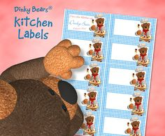 Charming Dinky Bears Pasta Kitchen Labels - Digital Download by DinkyPrints