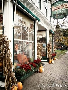 Small Town photograph - Variety store, New England photography, Vermont, Stowe, fall, store front, main street on Etsy, $15.00