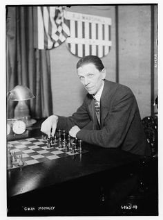 GM. Geza Maroczy. New York 1924. Kings Game, Chess Players, Chess Sets, Chess Pieces, Masters, Flow, Castle, March, York