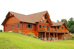 Log home in Wisconsin