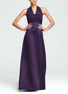 Satin Empire Ball Gown Bridesmaid Dress with Illusion Halter Lapis David's Bridal,http://www.amazon.com/dp/B00DO03DT8/ref=cm_sw_r_pi_dp_6rfrsb055WVBN8VQ