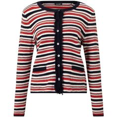 Gerry Weber Textured Stripe Cardigan, Multi ($125) ❤ liked on Polyvore featuring tops, cardigans, striped top, striped cardigan, striped long sleeve top, round neck cardigan and long sleeve tops