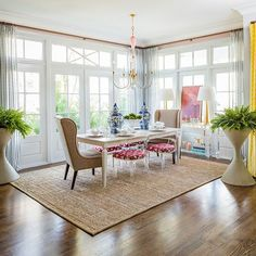Posh dining room des