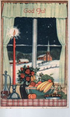 Cranner Christmas Cards, Christmas Postcards, Norway, Ladder Decor, Auction, Painting, Pictures, Christmas E Cards, Xmas Cards
