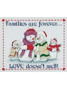 Cross Stitch Snow Family http://www.bookdrawer.com/snow-family-cross-stitch