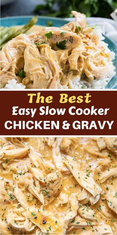 chicken and gravy crockpot Slow Cooker Chicken & Gravy - only 3 ingredients! Such a great weeknight meal! Just dump everything in the crock pot and let it work its magic! Serve over hot steamed rice with some green beans. SO easy and kid-friendly too! Crockpot Chicken And Gravy, Crockpot Dishes, Slow Cooker Chicken, Chicken Recipes, Chicken Tenders In Crockpot, Crock Pot Dump Meals, Easy Chicken Meals, Crockpot Chicken Dinners, Crockpot Chicken Healthy