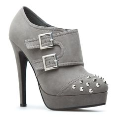 Grey booties with spikes