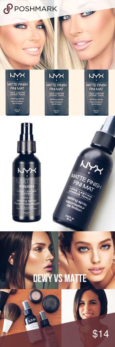 NYX *Stay Matte* Finishing SprayW/GIFTS! BRAND NEW & UNOPENEDNYX BEAUTY SUPPLIES & COSMETICS*NEW* MATTE FINISHING SPRAYSOLD OUT ONLINE & IN MOST STORESDemand perfection! For that fresh make up look that LASTS! The NEW NYX setting spray is a gorgeous shine free matte finish thats BOTH lightweight AND comfortable while working hard to make sure ur make up stays put!!INCLUDES SUPER CUTE FREE GIFTSEXPEDITED SHIPPINGBUNDLE UR FAV 3 ITEMS FOR AN *ADDITIONAL* 15% OFF OR AN *EXTRA* 10% OFF 2…