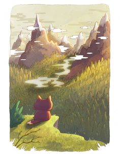 This new art series, created by Alena Tkach for NeonMob, is the story of a curious kitty named Pinkerton. Told through two beautifully illustrated images, our tiny hero makes new friends getting lost in the forest, and ultimately finding his way home.   On the subjects of cats and the inspiration for Pinkerton's adventure, Tkach says,I love cats and I am sure that most of people love them too.
