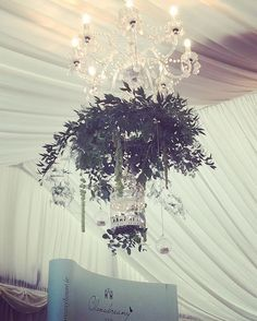 Alternative chandeliers by @vp_flowers here at @clonabreany #weddingdecor #weddinginspiration #weddinginspo #weddings #wedding