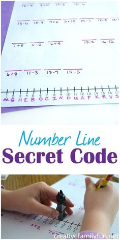 Use a number line to crack a secret code in this fun math game for kids. #mathforadults #onlinemathprograms
