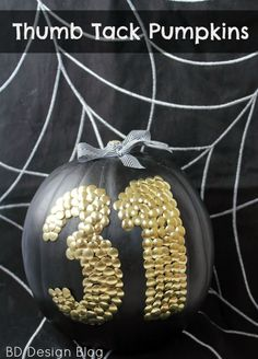 Thumbtack Pumpkins are so easy and fun to do!!
