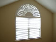 Elegant Half Circle Window Shades inside sizing 1024 X 768 Half Moon Window Shutters - There is an excellent kind of window coverings that are currently, Blinds For Arched Windows, Window Curtain Rods, Window Decor, Half Moon Window, Curtains, Blinds For Windows, Arched Windows, Blinds, Window Treatments