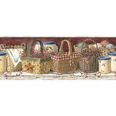 primitive wallpaper borders for kitchen www House Home