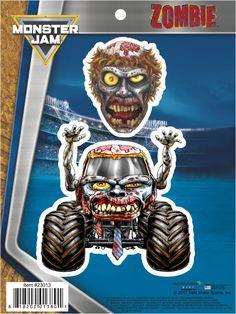 Monster Jam Zombie Truck Decals
