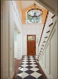Ideas.. Ideas.. Float Marmoleum Click tiles with an engineered wood floor.