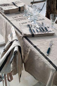 ✕ Petit-jardin-secret: J'adore ce linge de chez Côté Bastide! / #france #maison
