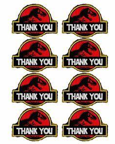 LOTS of Free dinosaur (Jurrasic Park) party printables