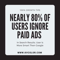 Nearly 80% of users ignore paid ads in search results