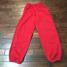 Red men's workout pants Red men's workout or lounge pants with drawstring pant legs. Good condition Champs sports  Pants Track Pants & Joggers