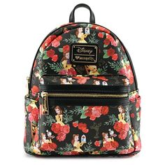 124f4f5ac875 Beauty and the Beast Belle Rose Print Mini-Backpack - Entertainment Earth