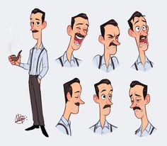 Pin by nadupoy sampao on character design & animation дизайн Character Design Sketches, Character Design Cartoon, Man Character, Cartoon Art Styles, Cartoon Faces, Character Design Animation, Character Design References, Character Drawing, Character Design Inspiration