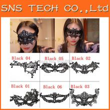 Hot Sales Black Lace Floral/ Animal Mask For Sexy Lady Cutout Eye Mask Masquerade Masks for Masquerade Party Fancy Dress Costume(China (Mainland))