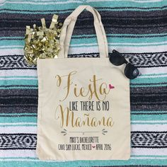 These adorable FIESTA LIKE THERES NO MAÑANA totes are off to a fab destination bachelorette party in Cabo San Lucas, Mexico!!