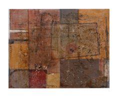 La fine della prima storia 2. carta, terre naturali, gesso, plastica su tavola cm 33 x 27 2010