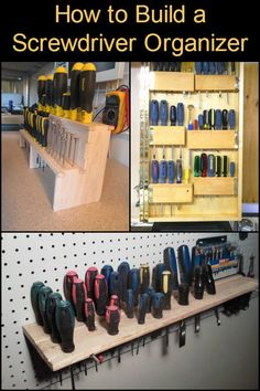 1600 wood plans - Do you need an organizer for your screwdriver set? Woodworking Drawings - Get A Lifetime Of Project Ideas and Inspiration! Small Woodworking Projects, Woodworking Organization, Workshop Organization, Learn Woodworking, Woodworking Workbench, Woodworking Furniture, Diy Wood Projects, Diy Organization, Workshop Ideas