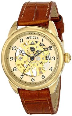 Invicta Women's 17199 Specialty Analog Display Mechanical Hand Wind Brown Watch ** You can find out more details at the link of the image.