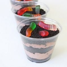 "Dirt cups! Micah had these at school last week and has been begging to make them for ""fancy"" dinner"