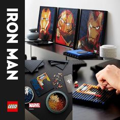 Awaken your creative superpowers with 3,156 bricks and lose yourself in quality tinkering time. Build 1 of 3 versions of the legendary Iron Man armor or rebuild your artwork when you want to update your display. A LEGO® hook element and a tile tool help make displaying and rebuilding easy. Dive into every detail and get the story behind the art with a unique soundtrack as you build and complete your artwork with the Marvel Studios Iron Man logo tile. Diy Crafts For Gifts, Diy Arts And Crafts, Holiday Crafts, Crafts To Make, Fun Crafts, Christmas Diy, Pvc Projects, Cool Art Projects, Pop Display