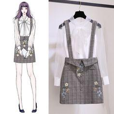Check Out These Awesome korean fashion outfits 1915 Kawaii Fashion, Cute Fashion, Look Fashion, Girl Fashion, Fashion Dresses, Womens Fashion, Fashion Ideas, Fashion Styles, Street Fashion