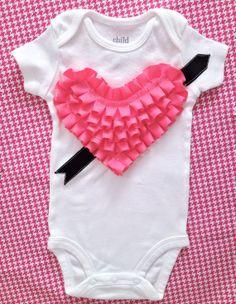 VALENTINE'S DAY LOVESTRUCK Baby Girl Cupid's by PomPomFairytale, $24.99