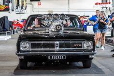 Brett Hewerdine's killer blown HT Monaro made an auspicious debut at Summernats 32 Australian Muscle Cars, Aussie Muscle Cars, Holden Muscle Cars, Holden Monaro, Love Drive, It's Going Down, Nice Cars, Car Stuff, Motocross