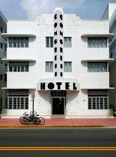 Miami Beach: Congress Hotel (1936), 1052 Ocean Drive, South Beach, Miami Beach, Florida by lumierefl, via Flickr Hotels in Ocean Drive!