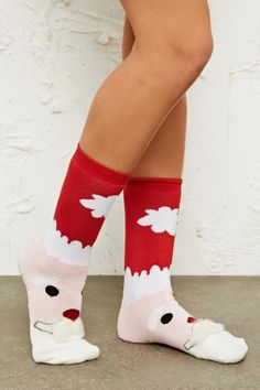 Santa Christmas Slipper Socks