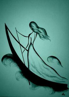 Drawings Feel the line by Russian artist Tatyana Markovtsev