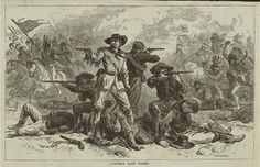 Artistic and glamorous depiction of Custer and his Last Fight/Stand.
