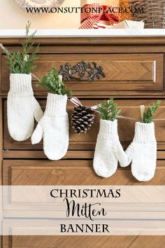 3 DIY No Sew Christmas Banners | easy tutorials with pics.