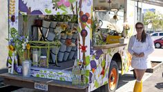 The Flower Truck, located in Los Angeles, CA.