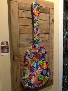 SOLD Folk Artist Alan Moore Soda Can Folk Art Guitar SOLD: