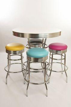 Cola Red Liberty Classic Bar Table & Stools Set