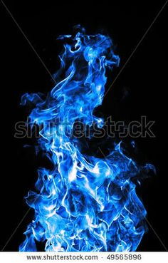 Glowing icy flames