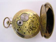 Alpina gold Art Deco gent vintage pocket watch caliber by Alpina Watches, via Flickr