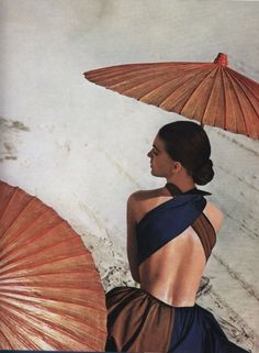 Virginia Stewart in Joset Walker´s sundress by Louise Dahl-Wolfe; Harper's Bazaar 1948