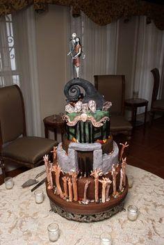 ♥ FANtÁSTICO MUNDO DA PRI ♥: Bolo Casamento Jack skellington and Sally / Wedding Cake Jack skellington and Sally