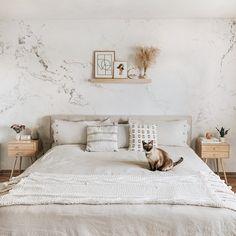 "Modern Grey & White Marble Wallpaper - Wallpaper / Pre-pasted - 150""W x 108""H"