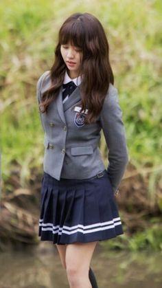Who are you : school 2015 - kim so hyun korean uniform school, school uniform Korean Uniform School, School Uniform Fashion, School Uniform Girls, Girls Uniforms, Asian Woman, Asian Girl, Kim So Hyun Fashion, Kim Sohyun, Estilo Lolita